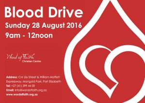 blood drive 28 August