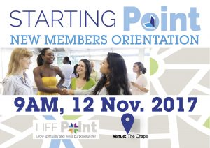 Starting Point New Members Orientation