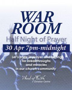 War Room Half Night of Prayer