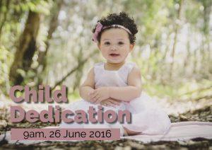 Child Dedication 26 June