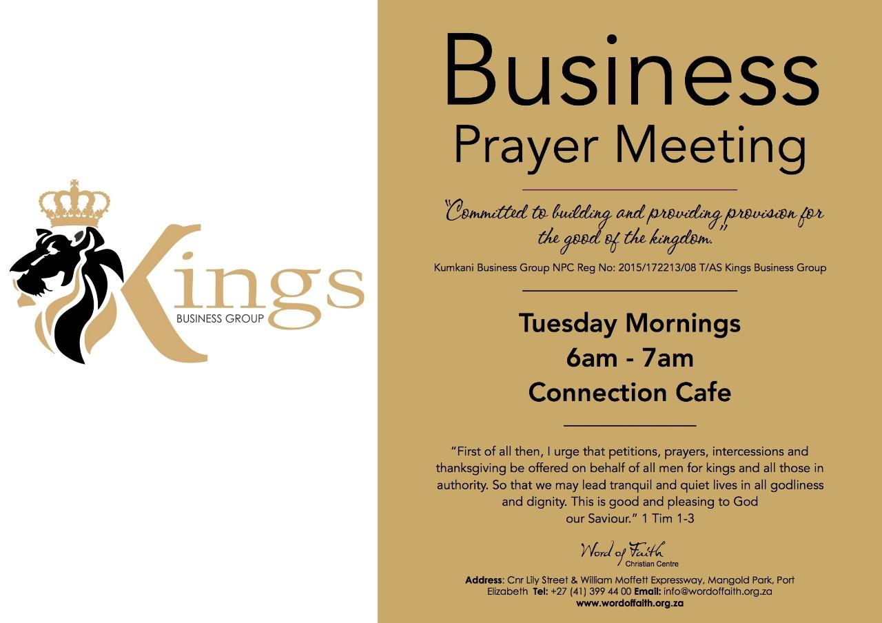 Business Prayer Meeting - Word of Faith Christian Centre